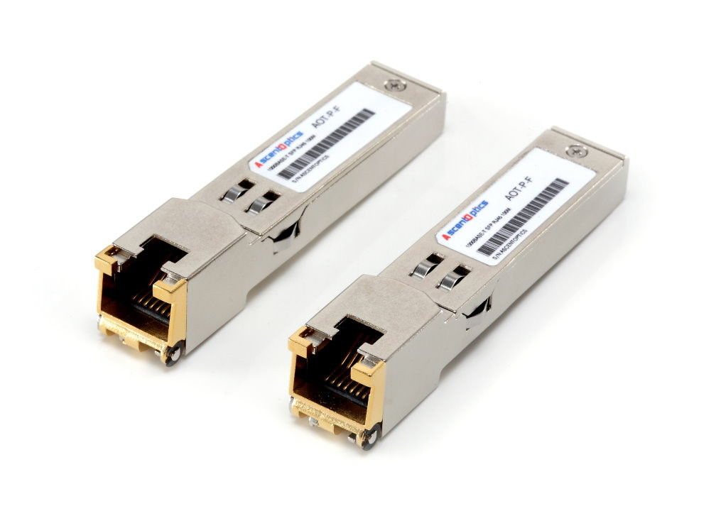 Electrical Hot-Pluggable 1000BASE-T SFP Transceiver 100M for Cate 5 Copper Wire