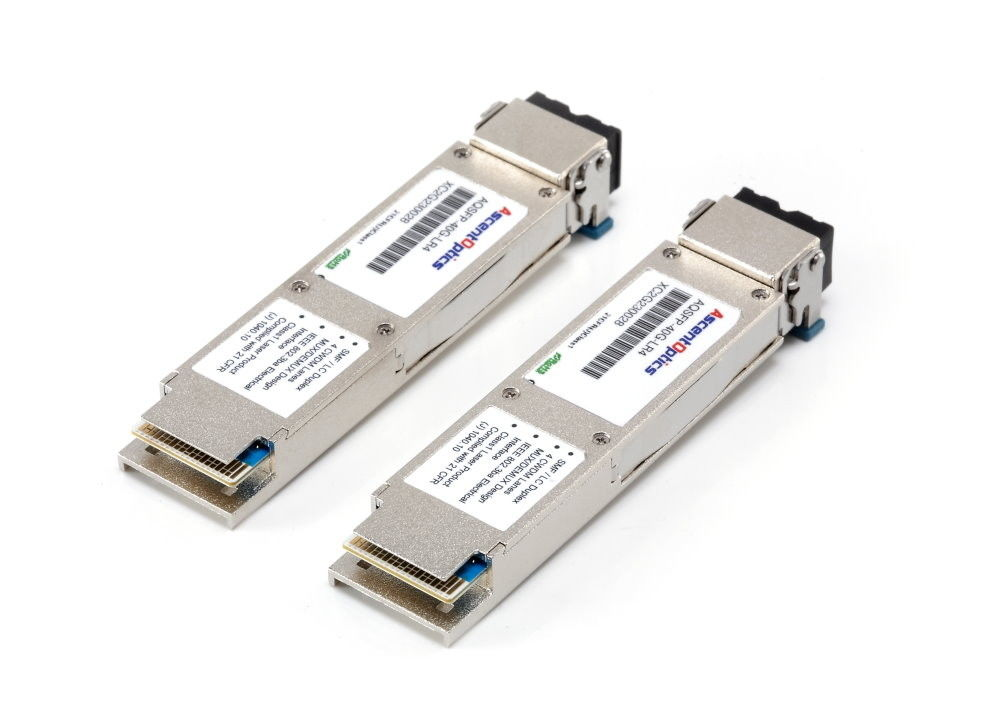 40G QSFP+ IR4 1310nm 2km PSM MPO connector  single-mode 40G Ethernet/ Infiniband QDR, DDR and SDR/Data Center